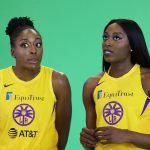 Tuesday, May 14, 2019 - Nneka Ogwumike (L) and Chiney Ogwumike attend the Los Angeles Sparks Media Day in Los Angeles, California. (Maria Noble/WomensHoopsWorld).