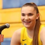 Tuesday, May 14, 2019 - Maria Vadeeva attends the Los Angeles Sparks Media Day in Los Angeles, California. (Maria Noble/WomensHoopsWorld).