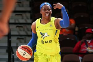 Arike Ogunbowale led the Dallas Wings to their first win of the season with a career-high 17 points. NBAE/Getty Images photo.