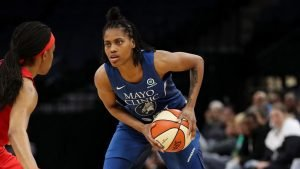 Former Minnesota Gopher standout Kenisha Bell is back with the Lynx. NBAE via Getty Images.