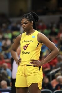 Teaira McCowan has upped her game in the last half f her rookie season. Kimberly Geswein photo.