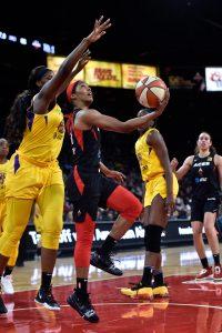 Sydney Colson puts up a shot. NBAE via Getty Images photo.
