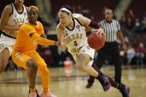 Chennedy Carter has been a scoring machine since she arrived at Texas A&M. Photo courtesy of Texas A&M Athletics.