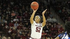 Senior Tyasha Harris is ready to lead a young Gamecock team this season. Photo courtesy of South Carolina Athletics.