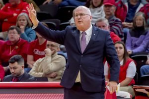 Brian Giorgis has been coaching basketball for almost 43 years, with 18 being at Marist. Photo courtesy of Marist Athletics.
