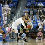 Camryn Brown loses ball possession. Maria Noble/WomensHoopsWorld.
