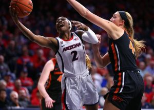 Aari McDonald will return to Arizona for her senior season, she announced this weekend. AP stock photo.