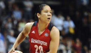 Kara Lawson played her final professional seasons with the Washington Mystics. Washington Mystics photo.