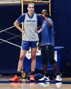 Bella Alarie has been coached by assistant coach Christian Robinson. Photo courtesy of Wings of Dallas.